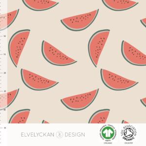 Elvelyckan  - Watermelon Creme JERSEY €23 p/m (GOTS)