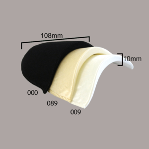 Schoudervulling satijn10mm wit  €1,75 p/set