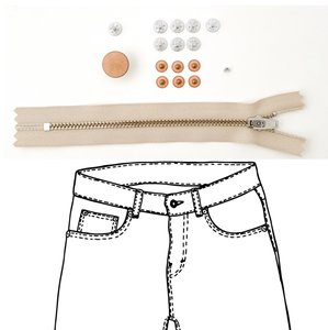 KYLIE & THE MACHINE - REFILL JEANS KIT BEIGE/COPPER 15 €12,90