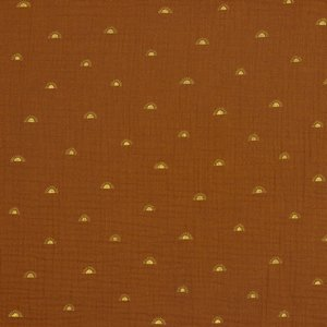 Verhees GOTS  - SUN HAZEL - Double Gauze/hydrofiel €9,90 p/m (GOTS)