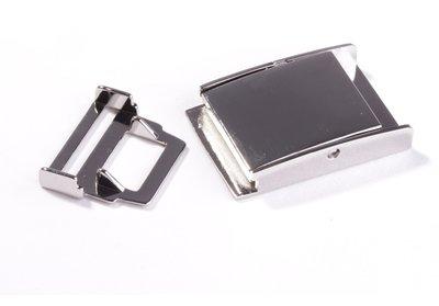 Ceintuur/tas en siergesp 25 mm zilver - €5,99 per stuk