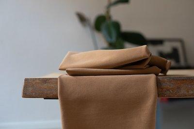 COUPON 120cm meetMilk - Stretch Twill Mustard met TENCEL™ Lyocell vezels €24,90 p/m