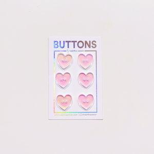 Tabitha Sewer - Heart buttons 15mm €9,50 p/set