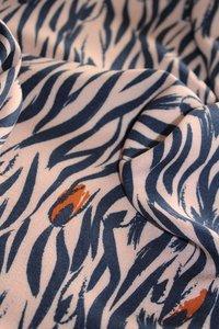 COUPON 40cm Eglantine & Zoé Zebra Rose Perle Crepe Viscose €22,50 p/m