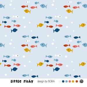 Lillestoff - Little Fishy JERSEY €21,30 p/m GOTS