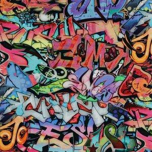 Verhees GOTS  - Graffiti €15,90 p/m french terry(GOTS)