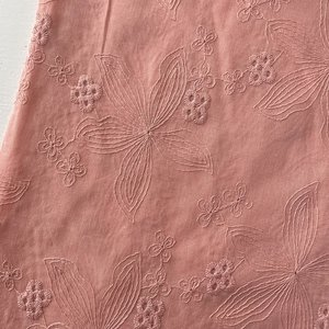 Verhees OEKOTEX - COTTON EMBROIDERED Old pink  €14,5 p/m katoen