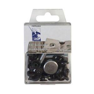 MMJZ Drukknoop Brons 15mm - €5,35 p/s