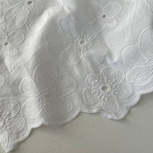 Verhees OEKOTEX - COTTON EMBROIDERED white €14,5 p/m katoen