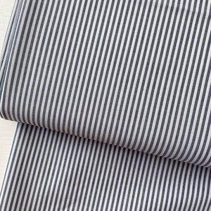 Ecological Textiles - Blue/white Fine stripes poplin €22,50 GOTS