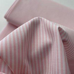 Ecological Textiles - Pink/white Fine stripes poplin €22,50 GOTS