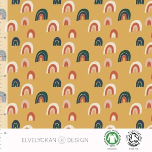 Elvelyckan  - Rainbow yellow JERSEY €23 p/m (GOTS)