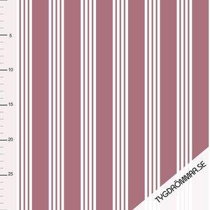 Tygdrommar - JERSEY multi lines OLD ROSE € 23,- p/m (GOTS)