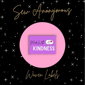 Sew Anonymous -  Made with Kindness labels €6,50 per set