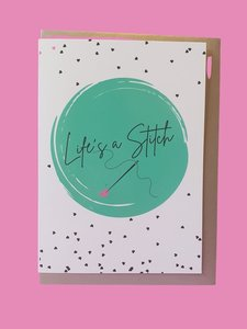 Sew Anonymous -  Kaart Life is a stitch  €3,50 p/s