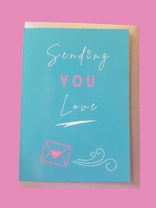 Sew Anonymous -  Kaart Sending love €3,50 p/s