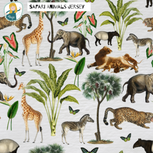 Ansje Handmade - SAFARI ANIMALS JERSEY €23,50 p/m