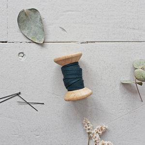 Atelier Brunette - Crepe forest green BIASband