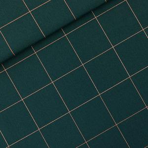 See you at six - Thin Grid Green Gables KATOEN CANVAS €20 p/m