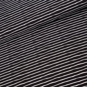 Stoffonkel zwart/wit stripes  JERSEY €21,80 p/m GOTS