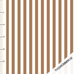 Tygdrommar - JERSEY Vertical lines-Sandstorm € 23,- p/m (GOTS)