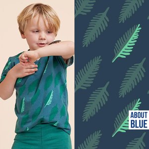 About Blue Wonders of Life - leaf  FRENCH TERRY 21 p/m