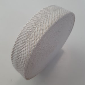 Tassenband Heeringbone zigzag ECRU - 30mm €3,5 p/m