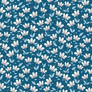 Verhees Blue magnolia SOFT SWEAT - €16 p/m GOTS