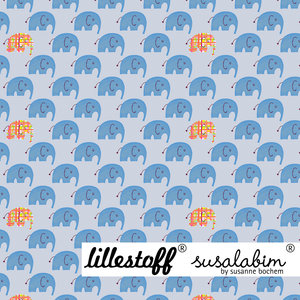 Lillestoff - Olifantjes blauw SUMMERSWEAT €21,80 p/m GOTS