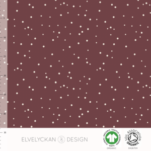 Elvelyckan  - Spots Wine 013 RIBBED KNIT €23 p/m