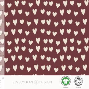 Elvelyckan  - Hearts Wine 013 JERSEY €23 p/m