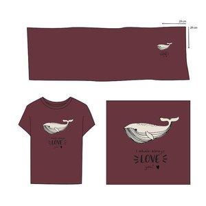 Elvelyckan  - Paneel Whale Love You Wine €28,90 p/m