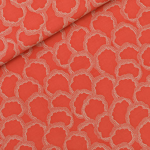 COUPON 70cm See you at six - Burnt Sienna Rood VISCOSE €15 p/m