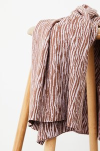 mindtheMAKER - Organic Bark JACQUARD dusty brown/lilac €28,50 p/m