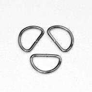 D-ring zilver 20 mm