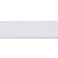Wit elastiek 25 mm