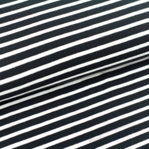 Stoffonkel Black/White stripes JERSEY €19,80 p/m GOTS