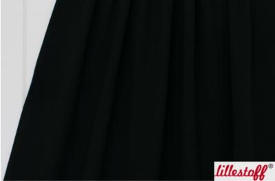 Lillestoff - solid zwart (summersweat) €17,80 p/m GOTS