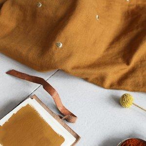 Atelier Brunette - Stardust Chestnut ochre (double gauze) €22,50 p/m