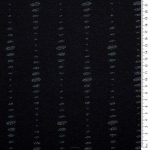 Glitter dots Zwart - oekotex jersey  €16 p/m