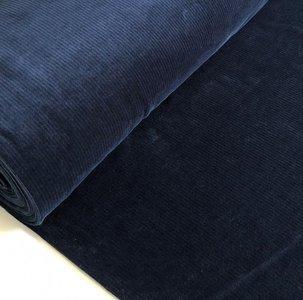 AlbStoffe - Organic cord Nicki DARK BLUE €23,90 p/m sweat (GOTS)