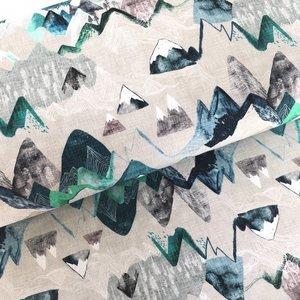 COUPON 130cm! Ansje Handmade - Call of the mountain - Esther Fallon Lau €24 p/m