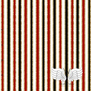 WCollection - Vertical stripes red jersey (biojersey) €23,50 p/m