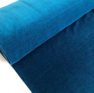 AlbStoffe - Organic cord Nicki Petrol €23,90 p/m sweat (GOTS)