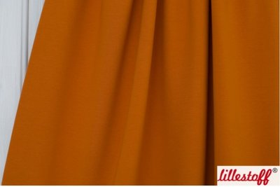 Lillestoff - solid oranjebruin (summersweat) €17,80 p/m GOTS