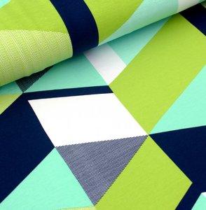 Tidoeblomma - Triangular green (GOTS summersweat) €21,90 p/m