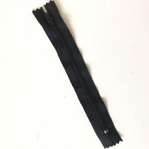 Rits 12cm, niet deelbaar - zwart