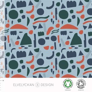 Elvelyckan  - Blue shapes €24p/m jersey (GOTS)