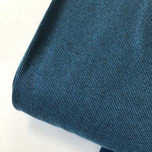 Rib boordstof melange blue  (110cm breed rondgebreid)
