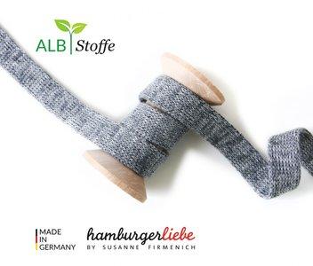 Alb Stoffe - Cord me - grijs melange hoodie koord €2 p/m